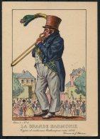 1935 Belgium Bruxelles Exposition Universelle Postcard - Le Musicien De La Grande Harmonie - Exhibitions
