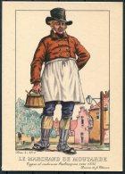 1935 Belgium Bruxelles Exposition Universelle Postcard - Le Marchand De Moutarde - Exhibitions