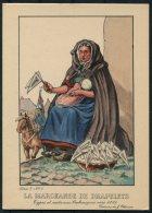 1935 Belgium Bruxelles Exposition Universelle Postcard -  La Marchande De Drapelets - Exhibitions