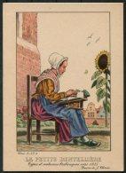 1935 Belgium Bruxelles Exposition Universelle Postcard -  La Petite Dentelliere - Exhibitions