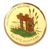 Pin's  VACANCES PTT SOLOGNE - Sainte Montaine - Vanne D'étang En Bois - Roseaux -  F735 - Mail Services