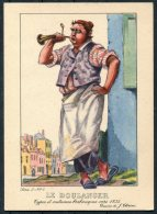 1935 Belgium Bruxelles Exposition Universelle Postcard -  Le Boulanger Cornant Au Pain Chaud - Exhibitions