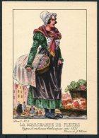 1935 Belgium Bruxelles Exposition Universelle Postcard -  La Marchande De Fleurs - Exhibitions