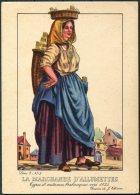 1935 Belgium Bruxelles Exposition Universelle Postcard -  La Marchande D'Allumettes - Exhibitions