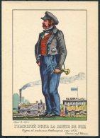 1935 Belgium Bruxelles Exposition Universelle Postcard -  L'employe De La 'Route De Fer' - Exhibitions