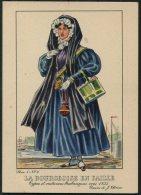 1935 Belgium Bruxelles Exposition Universelle Postcard -  La Bourgeoise En Faille - Exhibitions