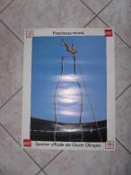 POSTER COCA COLA SPONSOR UFFICIALE GIOCHI OLIMPICI-BARCELLONA-SPAGNA-1992 - Manifesti Pubblicitari