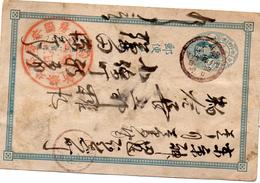Entier Postal  Japonais Pour Ma Part Incompréhensible.   J´ignore La Date Et La Ville De Départ (52.64) - Entiers Postaux