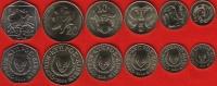 Cyprus Set Of 6 Coins: 1 - 50 Cents 2004 UNC - Chypre