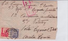 03309  Carta De Badajoz Correo Campaña - Censura Militar  Badajoz - 1931-50 Brieven