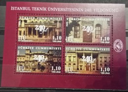 Turkey, 2013, 240th Anniv. Of Tecnical Univ. Of Istanbul, S/S (MNH) - Nuovi