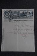 Facture Ancienne , THONON LES BAINS, Fabrique De Pâtes Alimentaires CRASTE. - 1800 – 1899