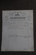 Facture Ancienne , MONTLUCON, Carossier, Sellier CH.ROUCERON, Ancienne Maison BENEYTON. - 1800 – 1899