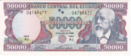 BILLETE DE ECUADOR DE 50000 SUCRES DEL 12/07/1999  SIN CIRCULAR-UNCIRCULATED - Ecuador