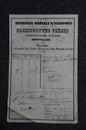 Facture Ancienne , MONTPELLIER, BEDARIEUX, LODEVE, Entreprise Générale De Transports De FABREGUETTES FRERES. - 1800 – 1899