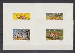 SENEGAL 1986 WWF 4 Blocks With Gazelle MNH - Unused Stamps
