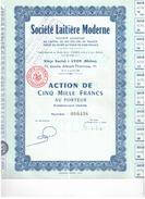Th 11(0)ActionSociété De Laitière Moderne 5000 Francs - Otros