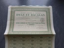Sté Travaux DYLE Et BACALAN, Lot De 2 Actions 1918  ; Ref ACT D - Non Classés