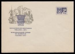 7414 RUSSIA 1971 ENTIER COVER Mint TALLINN ESTONIA EESTI BALTIC CHESS ECHECS SCHACH GAME ARCHITECTURE USSR 71-34 - Echecs