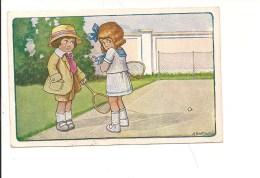 $3-4792 Illustratori Bertiglia Tennis Bimbi Viaggiata 1932 Fp - Bertiglia, A.