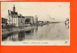 91 CORBEIL - L'hôtel De Ville Et Le Moulin - Corbeil Essonnes