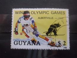 Guyane N°2050FA JEUX OLYMPIQUES D'ALBERTVILLE Oblitéré Cote 4,50€