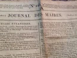 JOURNAL DES MAIRES, 21 Aout, 1817 - Revues & Journaux