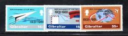 GIBILTERRA 1981 , Serie N. 430/432  MNH  ***   Servizio Postale Aereo - Gibilterra