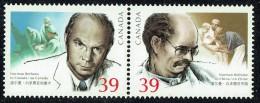 1990  Dr Norman Bethune  Sc 1264-5 Se-tenant Pair MNH - 1952-.... Reign Of Elizabeth II