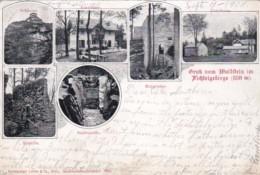 Gruss Vom Waldstein Im Fichtelgebirge Germany Multi View 1904