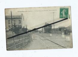CPA Abîmée  -  Saint Maxent  - La Gare De Saint Maxent Martainneville - France
