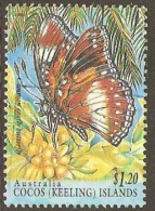 Cocos Keeling Islands 1995 331 $1.20 Common Eggfly Butterfly Fine Used - Cocos (Keeling) Islands