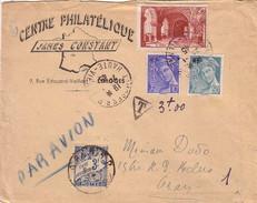 HAUTE-VIENNE - LIMOGES RP - LETTRE PAR AVION TAXEE EN ALGERIE A 3F - AFFRANCHISSEMENT MERCURE ET COMMEMORATIF - Postmark Collection (Covers)