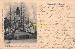 CPA  LIER LIERRE SOUVENIR DE LIERRE  LE MONUMENT TONY BERGMANN NELS SERIE 12 NO 6 - Lier