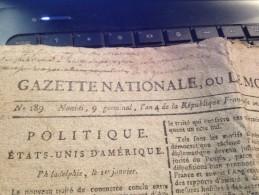 Gazette Nationale, Ou Le Moniteur Universel, 9 Germinal AN 4 De La République, Journal De La République - Revues & Journaux