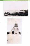 LOT DE 2 PHOTOS-COTES D'ARMOR-1934-PERROS-GUREC-1 PAYSAGE-L'EGLISE- - Photos
