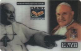 *ITALIA - PLANET COMMUNICATION* - Scheda Usata - Cartes GSM Prépayées & Recharges