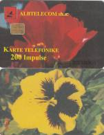 ALBANIA - Flower, Albtelecom Telecard 200 Units, Tirage 30000, 08/99, Used - Albanie
