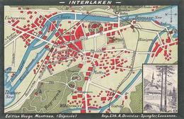 Interlaken - Stadtplan Von Annodazumal     (P6-40716) - BE Berne