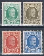 Année 1927  COB 254** à 257**  (254 = 254-V1 Et Cu1) Type Houyoux Valeurs Complémentaires - Cote 90,00€ - Unused Stamps