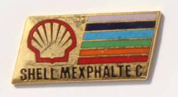 Pin's SHELL MEXPHALTE C- Le Logo - Coquille St Jacques - Palette De Couleurs -  KYK -  F749 - Fuels