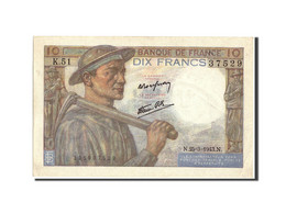 France, 10 Francs, 10 F 1941-1949 ''Mineur'', 1943, 1943-03-25, KM:99e, SUP+,... - 1871-1952 Circulated During XXth