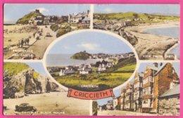 PC11299 Colour Multi-view Card For Criccieth, Caernarfonshire, Wales. - Caernarvonshire