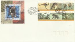 Australia 1994 Wildlife Koalas And Kangaroos Block 6 FDC - FDC