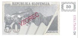 Slovenia - Pick 5s1 - 50 Tolarjev 1990 - Unc - SPECIMEN - VZOREC - Slovénie