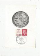 G-I-E , Carte Maximum , Représentation De Monnaie , 24 , PERIGUEUX , 1970 , Imprimerie Des Timbres - Poste - Coins (pictures)