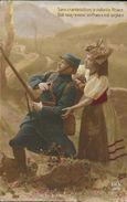 Sans Crainte Luttons, La Vaillante Alsace Doit Nous Revenir - Femme Et Militaire - Carte Série DIX N° 125, Non Circulée - Patriottisch