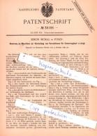 Original Patent  - Simon Moral In Posen , 1885 , Schankgeräthschaften !!! - Historische Dokumente