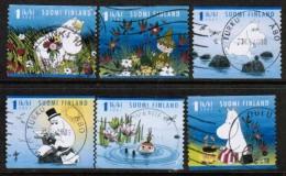 2007 Finland, Moomins,  Complete Used Set.