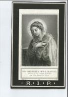 MARIE C LAHAYE EPOUSE M DEFAILLE + CRISNEE 1880 66 ANS IMP VAILLANT A LIEGE - Devotion Images